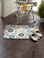 Einfache Stoff Umweltschutz Teppich Wasseraufnahme Wear Badezimmer Hall Küche Schlafzimmer Wohnzimmer Eingang Teppich ( Farbe : D , größe : 50*80cm )