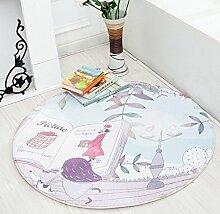 Einfache Teppich Runde Computer Stuhl Matte Cartoon Pad , 7 , 70cm