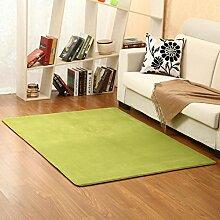 Einfache Teppich waschbar Coral Fleece/ moderne Kinder Schlafzimmer Teppich/ Wohnzimmer Bett Teppich-H 100x200cm(39x79inch)
