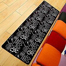 einfache Teppich Wohnzimmer Couchtisch in schwarz und weiß/Schlafzimmer Bay Fenster ziehen den Teppich aus meinem Bett-A 50x180cm(20x71inch)
