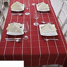 Einfache tischdecke/kariertes gewebe/tee tischdecke/haushalt table flag-A 140x200cm(55x79inch)