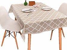 Einfache Tischdecke Tischdecke Gelb Kariert Leinen