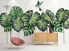 Einfache tropische Pflanzenfresken für Wandbilder