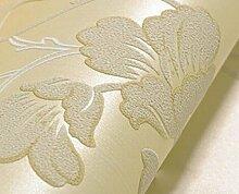 Einfache Umweltvliestapete 3D-Tapete Schlafzimmer Sofa Im Wohnzimmer TV Kulisse Studie,Yellow