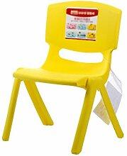 Einfache und dickere Kinder Stühle Safe Back Stühle Einfache Hocker (Farbe : Gelb, design : Pack of 5)
