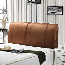 Einfache und moderne Bett Rücken Waschbar Bett Big Kissen Double Head Soft Pack Mit dem Paket-Bett ( farbe : Braun , größe : 150*60cm )