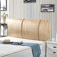 Einfache und moderne Bett Rücken Waschbar Bett Big Kissen Double Head Soft Pack Mit dem Paket-Bett ( farbe : Beige , größe : 150*60cm )