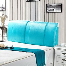 Einfache und moderne Bett Rücken Waschbar Bett Big Kissen Double Head Soft Pack Mit dem Paket-Bett ( farbe : Blau , größe : 150*60cm )