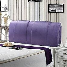 Einfache und moderne Bett Rücken Waschbar Bett Big Kissen Double Head Soft Pack Mit dem Paket-Bett ( farbe : Lila , größe : 150*60cm )