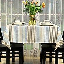 Einfache und moderne tischdecke/amerikanische baumwolle leinen stoff garten tisch tuch/tischtuch-A 130x210cm(51x83inch)