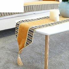 Einfache Und Moderne Tischdecke,Exquisite Mode Mosaik Couchtisch Tischläufer,Bett Bett Schal Tischläufer-A 30x180cm(12x71inch)
