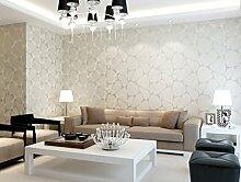 Einfache und moderne Vliestapete Schlafzimmer/Wohnzimmer TV Wand Hintergrundpapier 0,53 m * 10 m