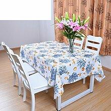 Einfache und xiandai partei tischtuch Nordic garden tisch tuch Längliche tischdecke-I 150x210cm(59x83inch)