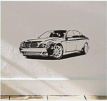 Einfache Wandaufkleber BMW Auto Vinyl Abriss