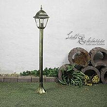 Einfache Wegleuchte in antik gold Außenleuchte IP44 E27 230V Gartenbeleuchtung Hof Außen Stehleuchte