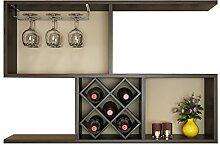 Einfache Weinschrank Wand-Weinregal Lagerregal