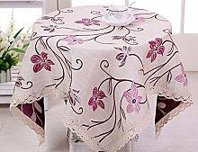 Einfache WFLJL Dekoration Abdeckung Tuch Baumwolle/Rechteck Tischdecke 110*110 cm
