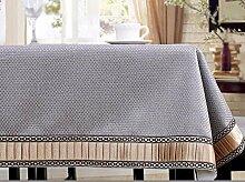 Einfache WFLJL style Tischdecke aus Baumwolle Dekoration Restaurant Rechteck Abdeckung Tuch 90*140 cm