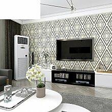 einfache Wohnzimmer TV Hintergrundbild Moderne Schlafzimmer Diamant gemusterten Tapete-C