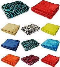Einfache & Zebra Kunstfell-Decke/-Überwurf in