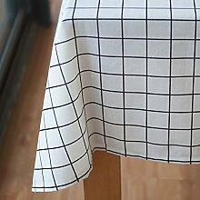 Einfachen karierten tischdecke einfache moderne familie tischtuch stoff baumwolle leinen teetisch wärme romantische tischtuch.frische tischdecke-A 160x100cm(63x39inch)