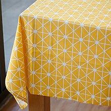 Einfachen karierten tischdecke einfache moderne familie tischtuch stoff baumwolle leinen teetisch wärme romantische tischtuch.frische tischdecke-B 120x120cm(47x47inch)