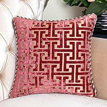 Einfachen Stil Baumwolle Sofa Throw Pillow Rückenlehne Buddha Krankenbett Sofakissen [Lordosenstütze]-A 50x50cm(20x20inch)VersionA