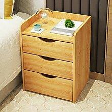 Einfacher moderner nachttisch Schublade nachttisch Schlafzimmer lagerschrank Schließfächer]-A