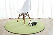Einfacher runder Teppich ( Farbe : Grün , größe : 120cm )