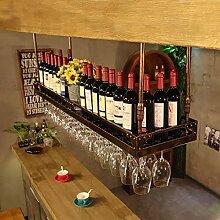 Einfacher Stil Eisen hängend Weinglasregal