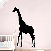 Einfaches Design Giraffe Silhouette Wandtattoo