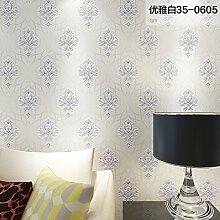 Einfaches kontinentales Schlafzimmer Wohnzimmer TV wallpaper Der Hintergrund der Vlies Tapete, elegante wei?e