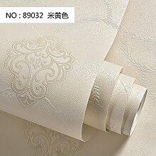 Einfaches kontinentales Vlies TapeteDie luxuriösen Lila3DStereo DamaskusFreundliche Schlafzimmer Wohnzimmer Wand Papier,M gelb