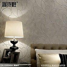 Einfaches kontinentales Vlies Tapete Wohnzimmer Studie Schlafzimmer TV-Wand Papier 3D-Hintergrund stereo geprägt,DA-03B 0404