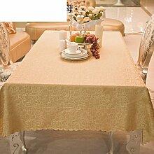 Einfaches Tuch Modernes Kaffeetuch,Stofftisch Tuch Rechteckige Goldene Tischdecke,Western Restaurant Tischdecke-A 160x160cm(63x63inch)
