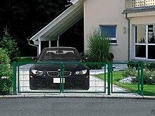 Einfahrtstor Toranlage 3-flügelig Grün Tor Hoftor Doppel Gartentor 550cm x 143cm