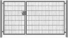 Einfahrtstor / Zauntor mit 2 Flügeln Verzinkt