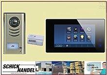 Einfamilienhaus AP Gegensprechanlage DT591+T47M Videospeicher Sprechanlage 1 Sprechanlagen Monitor Sprechanlagen Monitor schwarz