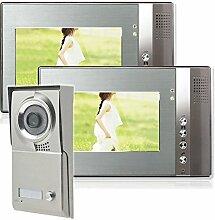 Einfamilienhaus Farb Video Türsprechanlage 2 Monitore 1 Aussenstation