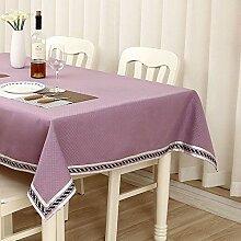 Einfarbig Baumwolle Und Leinen Tischdecke