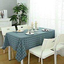 einfarbig gitter Tischdecke Leinen baumwolle Hotel Couchtisch Esstisch Geschirr dekoration Staub Tuch , 120*170cm