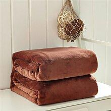 Einfarbig Korallen Fleece Decke Warm Kniedecke Windschutzscheibe Weiche Klimatisierte Decke Decke Freizeitdecke 50 * 70cm,Coffeecolor
