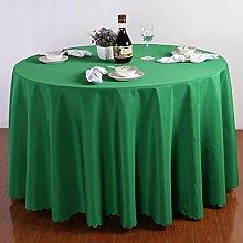 einfarbig Polyester Tischdecke Runde Quadratischen tisch hochzeit Hotel Couchtisch Esstisch Geschirr dekoration Staub Tuch , green , 140*140cm