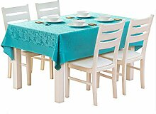 Einfarbig Rechteckige Tischdecke Garten