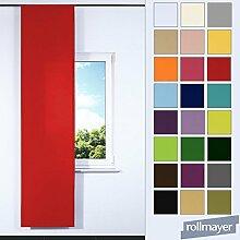 einfarbig Schiebevorhang für Flächenvorhangschiene / Schienensysteme 60 x 245 CM (Rostrot 30, IKEA System), Flächenvorhang Schiebepanel Schiebegardine Vorhang Raumteiler