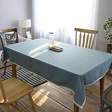 einfarbig Tischdecke Leinen baumwolle dekoration Multifunktions Hotel Couchtisch Esstisch Geschirr Staub Tuch , 130*230cm