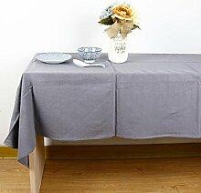 einfarbig Tischdecke Leinen baumwolle Hotel Couchtisch Esstisch Geschirr Staub Tuch , B , 140*220cm