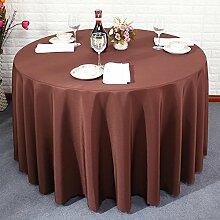 einfarbig Tischdecke leinwandbindung Hotel Couchtisch Esstisch Geschirr einfachheit Quadratische, runde Staub Tuch , Brown , 120*180cm