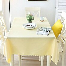 Einfarbige Stoff Tischdecke, hitzebeständige