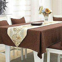 Einfarbige tischdecke,Baumwolle und leinen